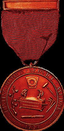 Distinguished service medal in bronze